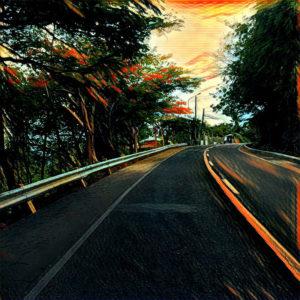 Вечернее шоссе