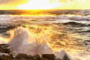 Закат над Атлантическим побережьем